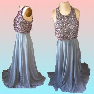 Asos embellished crop top maxi gown NWT size 6